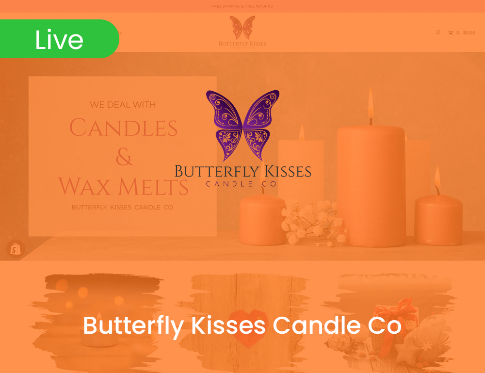 Butterfly Kisses Candle Co